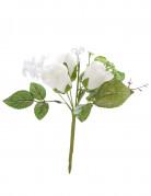 Petit bouquet de roses blanches artificielles
