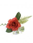 Décoration de table rose artificielle rouge 17 x 12 cm