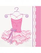 20 Serviettes en papier Ballerine 33 x 33 cm