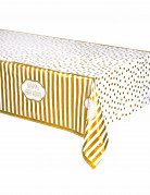 Nappe plastique Anniversaire doré 137 x 213 cm