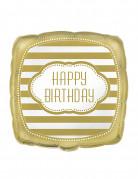 Ballon aluminium anniversaire doré 45 cm