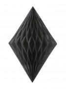 Losange alvéolé noir 35 cm