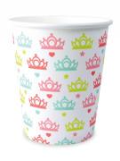 8 Gobelets en carton princesse 25cl
