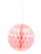 Boule papier alvéolée rose bonbon 12 cm