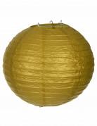 Lanterne japonaise dorée 25 cm