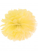 Pompon à suspendre en papier jaune 35 cm