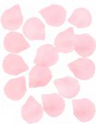 100 Pétales de rose en tissu rose 5 cm