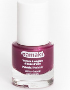 Vernis à ongles base eau pelable framboise 7,5 ml Namaki Cosmetics ©