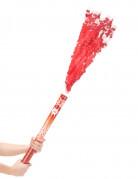 Canon à confettis rouges 60 cm