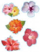 10 Décorations de table fleurs d'hibiscus Hawaï