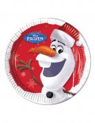 8 Assiettes en carton Olaf Christmas™ 23 cm