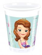 8 Gobelets en plastique Princesse Sofia sirène™ 200 ml