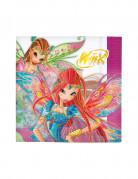 20 Serviettes en papier Winx Club™ 33 x 33 cm