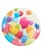 10 Assiettes en carton ballons volants