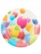 10 Petites assiettes ballons volants 19 cm