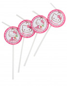 6 Pailles médaillon Hello Kitty™