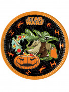8 Assiettes en carton Halloween Star Wars™ 23 cm