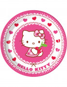 8 Assiettes en carton Hello Kitty™ 23 cm
