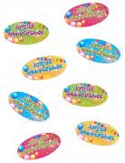 80 confettis de table Joyeux Anniversaire Fiesta