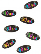 80 confettis de table papier 80 ans Feux d'artifice