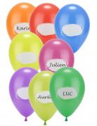 8 Ballons à personnaliser