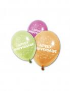 8 Ballons Joyeux anniversaire 25 cm