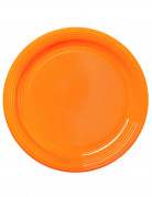 30 Assiettes orange mandarine 22 cm
