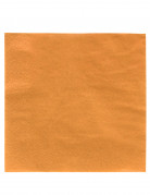 50 Serviettes orange 38 x 38 cm