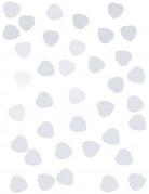 Confettis petit cœur en papier blanc 50g
