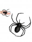 Araignée noire en plastique 18 x 15 cm Halloween