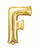 Ballon aluminium Lettre F doré 33 cm