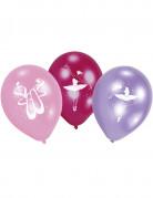 6 Ballons latex Ballerine