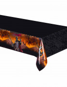 Nappe en plastique Chevalier noir 120 x 180 cm