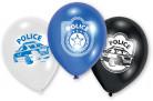 6 Ballons en latex Police