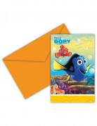 6 Cartes d'invitation + enveloppes Le monde de Dory™