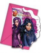 6 Cartes d'invitation et enveloppes Descendants™