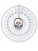 Rosace papier squelette Halloween 50 cm