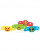 4 Bracelets en caoutchouc Emoji™