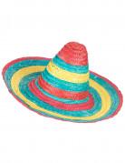 Sombrero Mexicain rouge-vert-jaune adulte