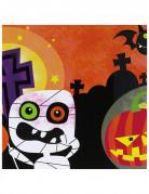 20 Serviettes en papier petits monstres Halloween