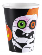 8 Gobelets en carton Petits monstres Halloween 266 ml