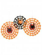 3 Suspensions rosaces araignées Halloween