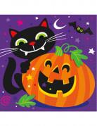 16 Serviettes papier citrouille et compagnie Halloween