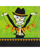 16 Serviettes papier Day of the dead 23 cm