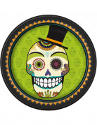 8 Assiettes en carton Day of the dead 23 cm