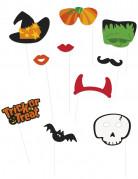 Kit photobooth 10 pièces Halloween