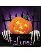 20 Serviettes en papier citrouille Halloween