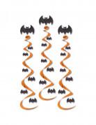 3 Suspensions spirales chauve-souris Halloween