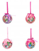 4 Boules Minnie™ 7,5 cm Noël