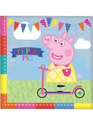 16 Serviettes en papier Peppa Pig™ 33 x 33 cm